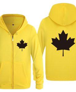 Zipper Hoodies Men Canada or Toronto Maple Leaf Mens Hoodie Hip Hop Fleece Long Sleeve Men 1