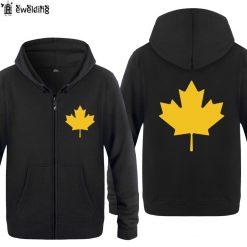 Zipper Hoodies Men Canada or Toronto Maple Leaf Mens Hoodie Hip Hop Fleece Long Sleeve Men 2