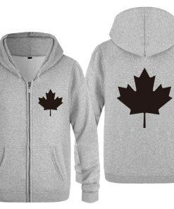 Zipper Hoodies Men Canada or Toronto Maple Leaf Mens Hoodie Hip Hop Fleece Long Sleeve Men