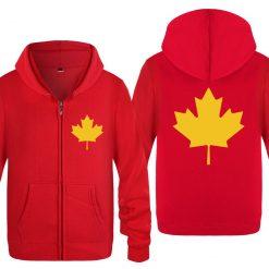 Zipper Hoodies Men Canada or Toronto Maple Leaf Mens Hoodie Hip Hop Fleece Long Sleeve Men 3