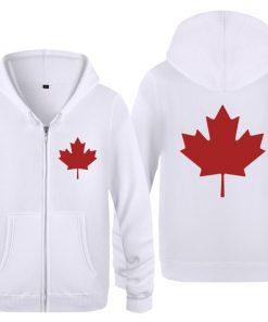 Zipper Hoodies Men Canada or Toronto Maple Leaf Mens Hoodie Hip Hop Fleece Long Sleeve Men 4