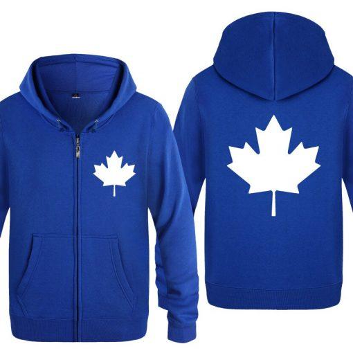 Zipper Hoodies Men Canada or Toronto Maple Leaf Mens Hoodie Hip Hop Fleece Long Sleeve Men 5
