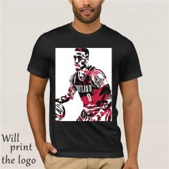 amian Lillard Portland Trail Blazers Pixel Art 10 Men s T Shirt