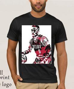 amian Lillard Portland Trail Blazers Pixel Art 10 Men s T Shirt
