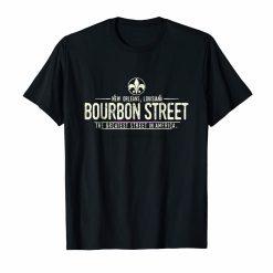 brand men shirt Bourbon Street New Orleans Louisiana Distressed T Shirt
