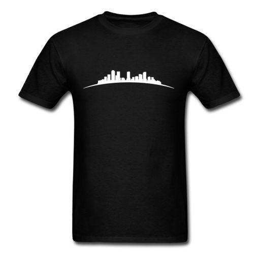 denver sky Full Short Sleeved T shirt Teenage Funny Tshirts 100 Cotton O Neck Men s
