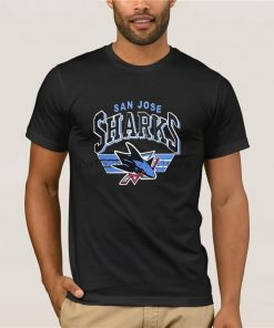 fashion brand t shirt san jose shark t shirt for loose hip hop tees black male