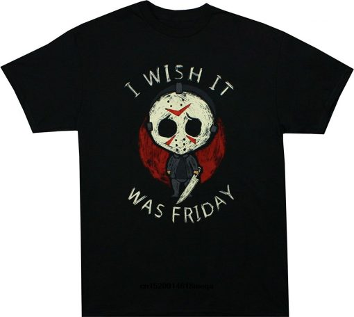 funny t shirts Friday the 13th Jason It Was Friday T Shirt Summer Cotton Short Sleeve
