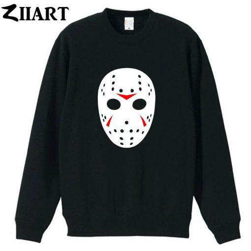 jason mask clip art Friday the 13th couple clothes girls woman cotton autumn winter fleece Sweatshirt 1