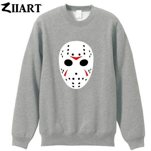 jason mask clip art Friday the 13th couple clothes girls woman cotton autumn winter fleece Sweatshirt 2