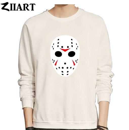 jason mask clip art Friday the 13th couple clothes girls woman cotton autumn winter fleece Sweatshirt 3