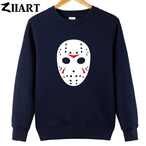 jason mask clip art Friday the 13th couple clothes girls woman cotton autumn winter fleece Sweatshirt