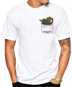 mandalorian baby yoda t shirt Star Wars Mandalor Pocket Yoda Design T shirt Cool Baby Yoda