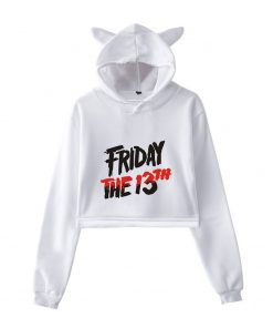 nwe Fashion sexy cat ears hooded sweatshirt Friday the 13th the game sucking cute kitten cartoon 2