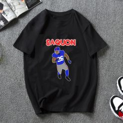 saquon barkley new york giants WoMen T Shirt Short Sleeve Tshirt Harajuku Streetwear Fashion Round Neck