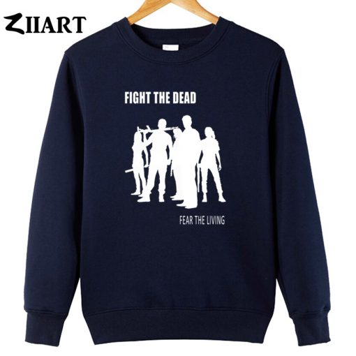 the walking dead FIGHT THE DEAD FEAR THE LIVING couple clothes boys man male cotton autumn 2