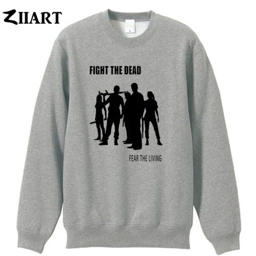 the walking dead FIGHT THE DEAD FEAR THE LIVING couple clothes boys man male cotton autumn