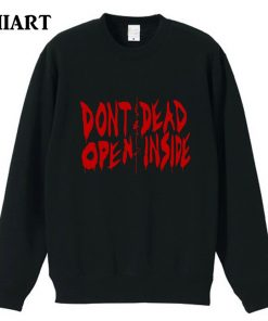 the walking dead don t open dead inside couple clothes girls woman cotton autumn winter fleece 1