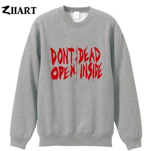 the walking dead don t open dead inside couple clothes girls woman cotton autumn winter fleece 2