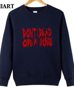 the walking dead don t open dead inside couple clothes girls woman cotton autumn winter fleece