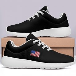 America Flag Design Unisex Sneakers Low Top London Black Style Shoes
