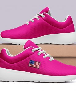 America Flag Design Women Men Sneakers Low Top London Pink Style Shoes