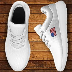 America Flag Design Unisex Sneakers Low Top London White Style Shoes