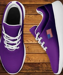 America Flag Design Women Men Sneakers Low Top London Purple Style Shoes