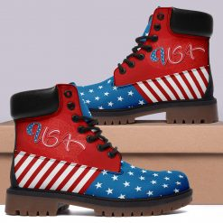 America Flag 3D Printed Unisex Winter Boot