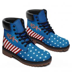 Limited America Flag Blue 3D Printed Women Men Winter Boot