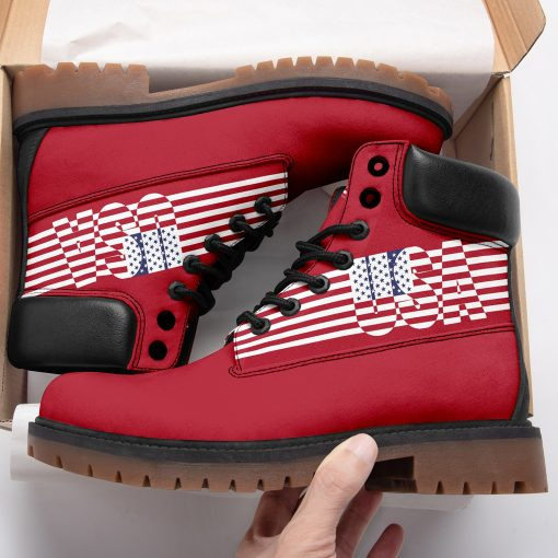 Limited America Flag Red 3D Printed Women Men Timboot