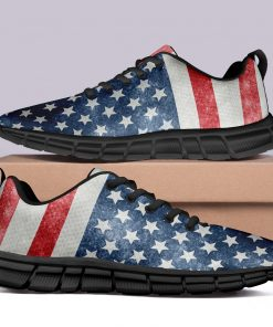 London Style Casual Sneakers Custom America Flag Printed Yeezy Shoes