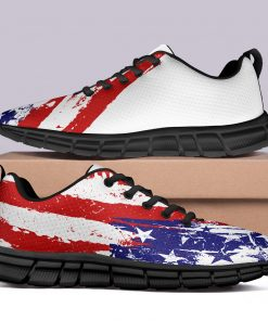 London Style Limited Casual Sneakers Custom America Flag Printed Yeezy Shoes