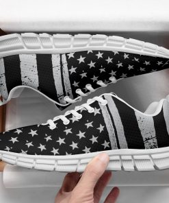 New Design London Black Style Casual Sneakers Custom America Flag