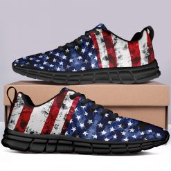London Limited Style Casual Sneakers Custom America Flag Printed Yeezy Shoes