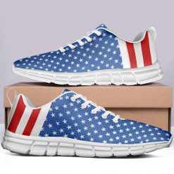 London Limited Style Casual Sneakers Custom America Flag
