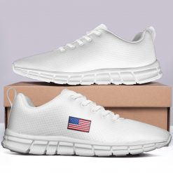 New Design London White Style Casual Sneakers Custom America Flag