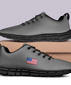 New Design London Sport Grey Style Casual Sneakers Custom America Flag