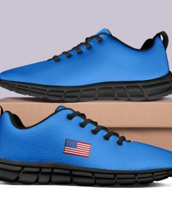 New Design London Light Blue Style Casual Sneakers Custom America Flag