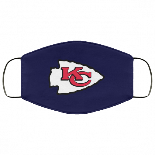 Kansas City Chiefs Line Gray Victory Arch FMA Face Mask