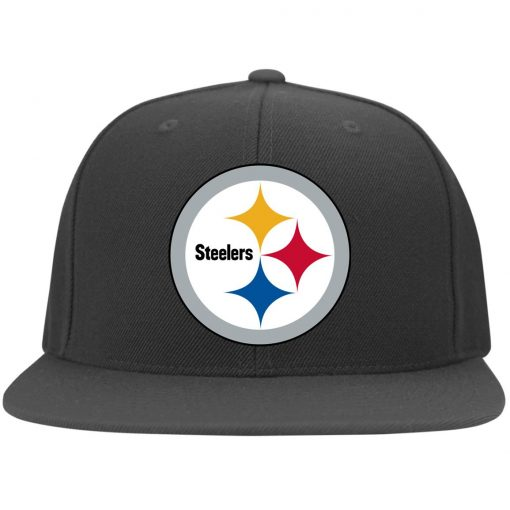 Pittsburgh Steelers NFL Pro Line Gray Victory Twill Flexfit Cap