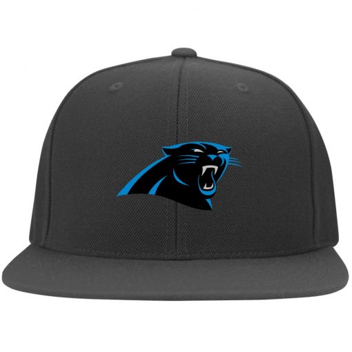Panthers NFL Pro Line by Fanatics Branded Gray Victory Twill Flexfit Cap