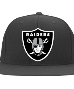 Oakland Raiders NFL Line by Fanatics Branded Black Victory Twill Flexfit Cap
