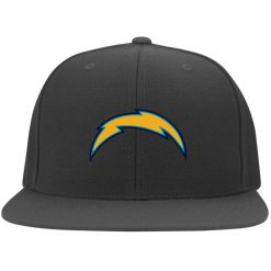 Los Angeles Chargers NFL Pro Line by Fanatics Branded Gray Victory Arch Twill Flexfit Cap