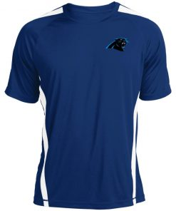 Panthers NFL Pro Line by Fanatics Branded Gray Victory Colorblock T-Shirt