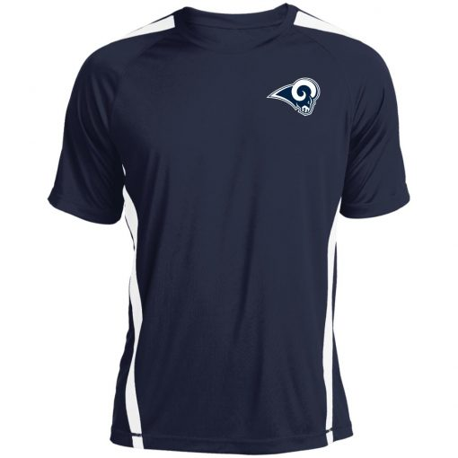 Los Angeles Rams NFL Pro Line by Fanatics Branded Gray Victory Colorblock T-Shirt