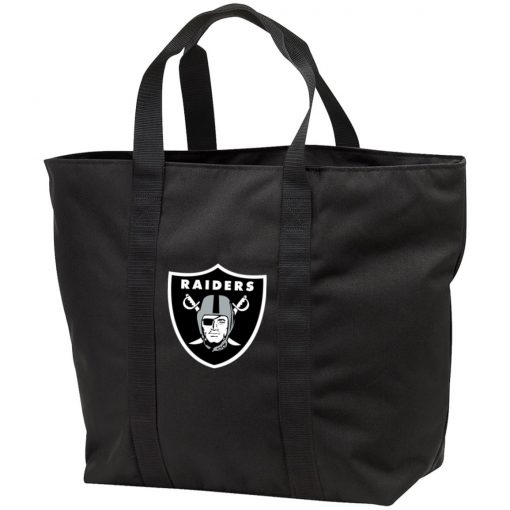Oakland Raiders NFL Line by Fanatics Branded Black Victory Tote Bag