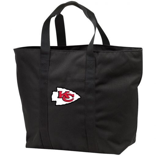Kansas City Chiefs Line Gray Victory Arch Tote Bag