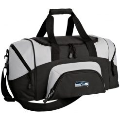 Seattle Seahawks NFL Pro Line Gray Victory Small Colorblock Sport Duffel Bag