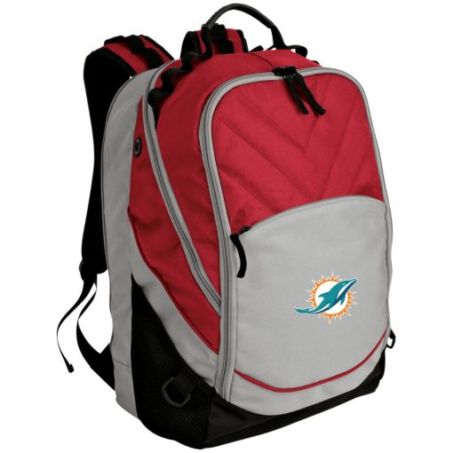 Miami Dolphins NFL Line by Fanatics Branded Aqua Vintage Victory Laptop Computer Backpack